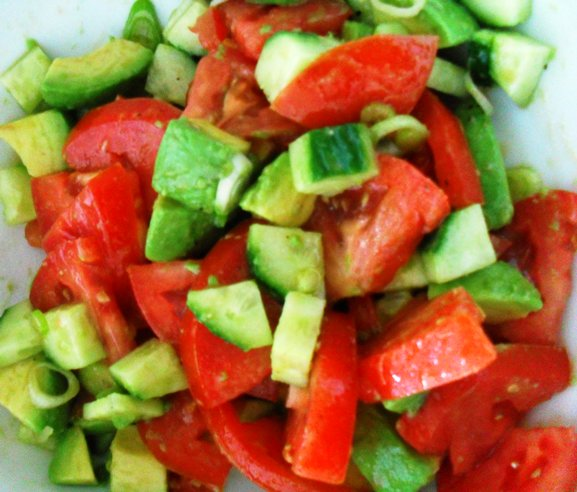 Cucumber Tomato Avocado Salad Tomato avocado cucumber salad