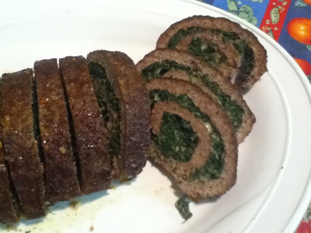 Spinach Stuffed Beef Roll