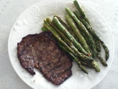 Thin Rib Eye Steak Asparagus