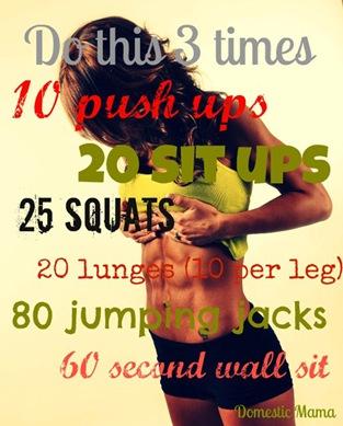 workout 3 times