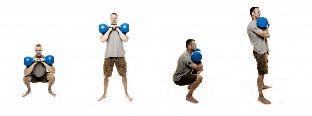 Double Kettlebell Front Squat Achievement 140 Lb The