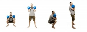 Kettlebell Double Rack Squat