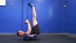 Kettlebell Leg +Hip-Raise