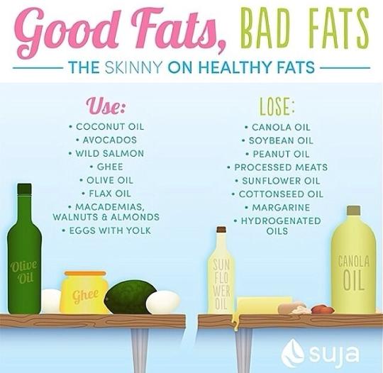 Good Fat Bad Fat Chart