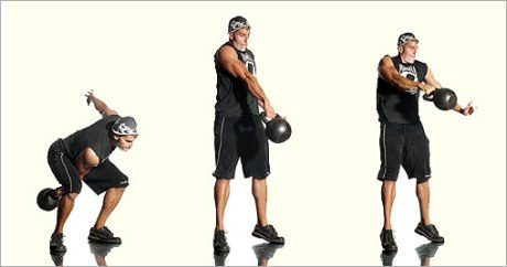 Kettlebell One Arm Swing & Pass