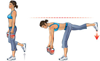 Kettlebell Single Leg Deadlift